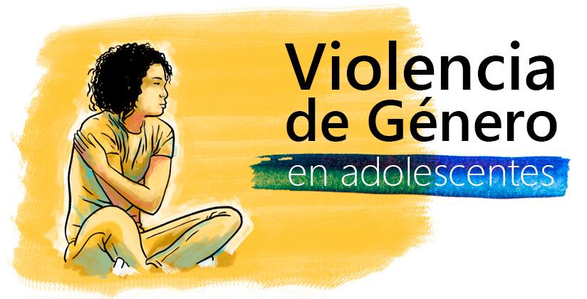 Chica joven sentada y abrazándose, mirando al horizonte (donde se encuentra el título genérico de los cursos relacionados con la violencia de género en adolescentes)