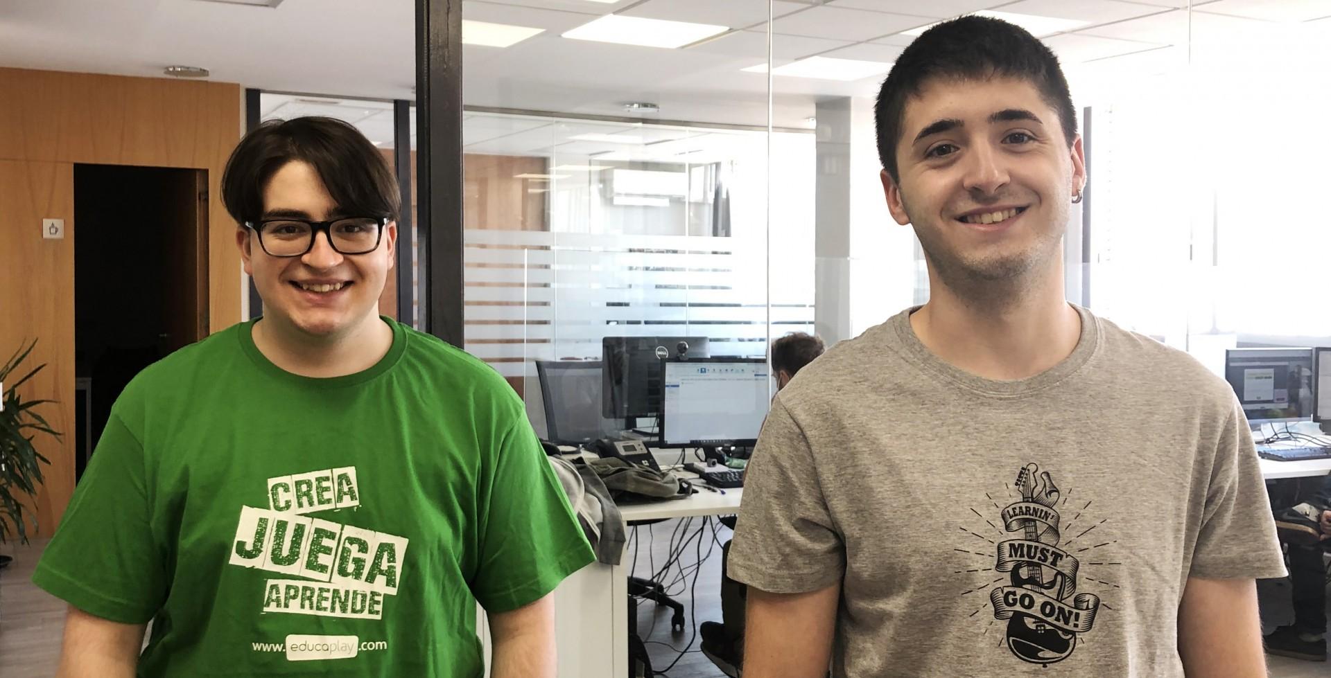 Los alumnos de Grado en Informática por la Universidad de La Rioja Iker Jadraque y Ricardo Calle realizan sus prácticas en ADR Formación y Educaplay.