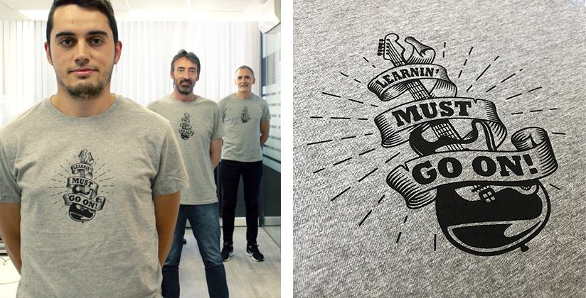 nuevas camisetas ADR Formacion Learning Must Go On