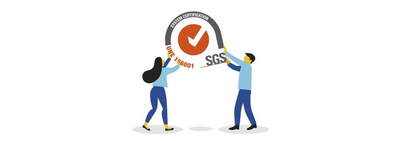 ADR Formación certificada en ISO 9001 por SGS