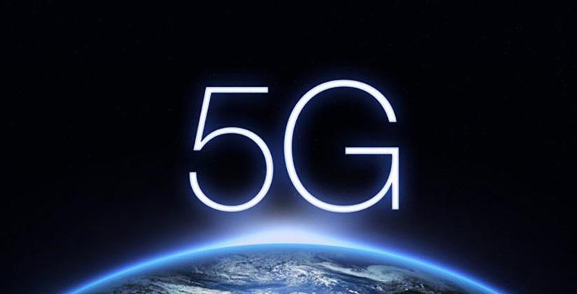 5G surgiendo sobre el horizonte del planeta Tierra.