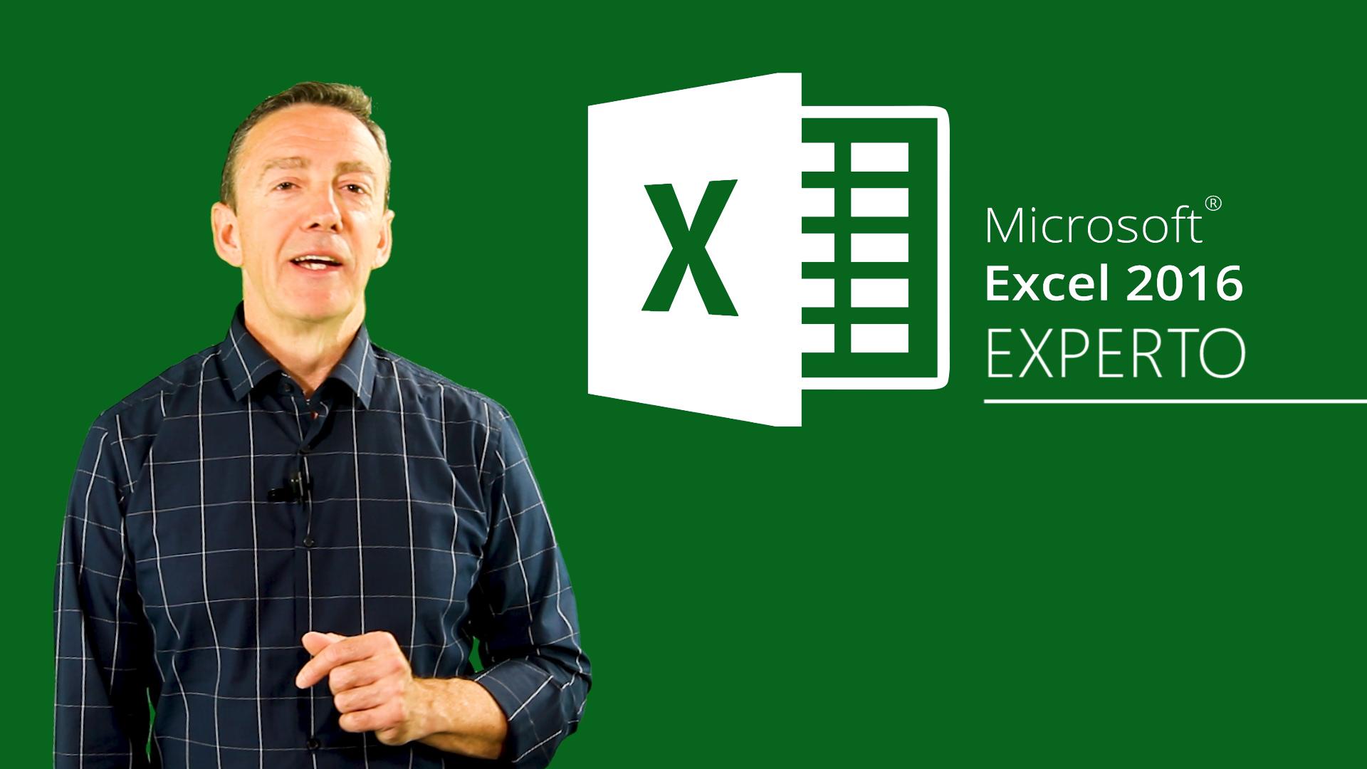 Curso de Excel 2016 Expertos