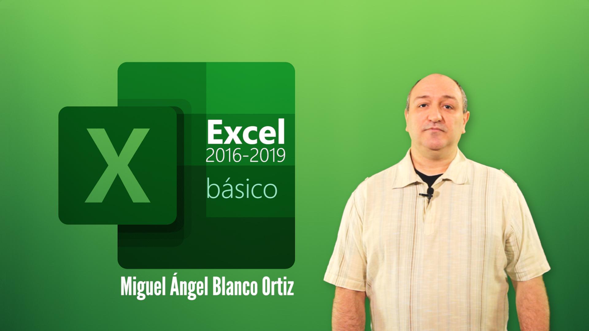 Curso de Excel 2016/2019 Básico